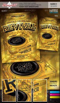 Oldschool Revival DJ Event Flyer Template
