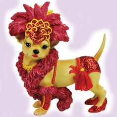 AYE CHIHUAHUA ! -  SHOWGIRL FIGURINE - http://collectiblefigurines.net/aye-chihuahua/aye-chihuahua-showgirl-figurine/