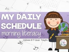 3rd Grade Thoughts: My Daily Schedule lots of good ideas for different subjects