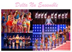 Delta Nu Ensemble ~ bright, colorful, fun clothing. Well dressed and put together. Same for UCLA ensemble, male ensemble members dress in preppy clothes similar to Harvard ensemble but not as dull