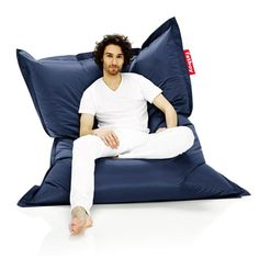 Fatboy has been bringing innovative, iconic, and quality lifestyle products to fans all over the world since conception in 2002 when it set out to create the perfect lounge: The Original Bean Bag C. Bean Bag Pouffe, Bean Bag Chair, Design Shop, Pouf Design, Relaxed Dog, Shops, Modern Shop, Fabric Patch, Lounge Furniture