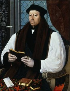 Thomas Cranmer, Archbishop of Canterbury. Cranmer was a leader of the English Reformation and Archbishop of Canterbury during the reigns of Henry VIII, Edward VI and, for a short time, Mary I. personal chaplin to the Boleyn family Dinastia Tudor, Los Tudor, Tudor Rose, Anne Boleyn, Tudor History, British History, Adele, Thomas Cranmer, English Reformation