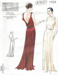 Fashion Ilustration Vintage Vogue Evening Gowns 64 New Ideas Motif Vintage, Vintage Dress Patterns, Vintage Mode, Vintage Dresses, Vintage Outfits, Vintage Art, 1930s Fashion, Art Deco Fashion, Vintage Fashion