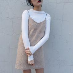 Fluffy Cami Dress Ladies Winter Furry Dress Faux Fur Camisole Short Suspender Dress Women Loose Outerwear Dress