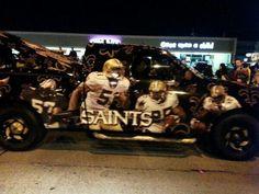 New Orleans Saints Truck. Mardi Gras 2014