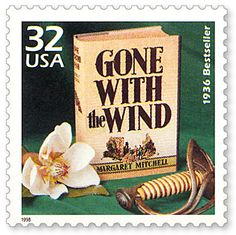 Gone With the Wind Book Stamp, 1998