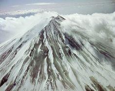 Hiroshi Hamaya: JAPAN. Winter starts on peak of Mount Fuji