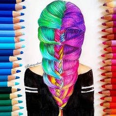 Spectacular Colourful Hair❤️ by @floating_colour  Follow @inspirehairstyles if you ❤️hair!
