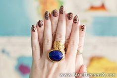 tiger print nail design » Nail Designs & Nail Art