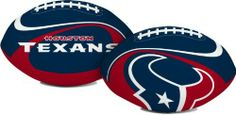 "Houston Texans ""Goal Line"" 8"" Softee Football by The Licenced Products Co.. $14.46. 8-inch football. This soft polyester filled 8-inch football is safe to throw around indoors or out and features bright team primary colors."