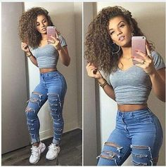 Buy Ripped High Waist Skinny Holes Slim Fashion Jeans here