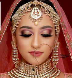 Bridal Makeup Images, Best Bridal Makeup, Bridal Makeup Looks, Bride Makeup, Bridal Looks, Pakistani Bridal Makeup, Indian Wedding Makeup, Indian Eye Makeup, Indian Makeup Looks