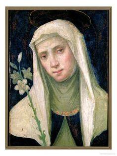 St. Catherine of Siena (1347-80) (tempera on panel), Bartolommeo, Fra (Baccio della Porta) (1472-1517) / Museo di San Marco, Florence, Italy