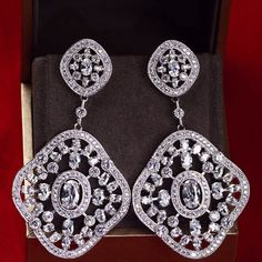 Zircon Earing JHZ-311 USD64.31, Click photo to know how to buy / Contact me for discount, follow board for more inspiration