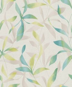 Contemporary Wallpaper, pattern number from the BOTANICALS range. 60s Furniture, Contemporary Wallpaper, Pattern Wallpaper, Plant Leaves, Tapestry, Floral, Image, Home Decor, Feature Walls