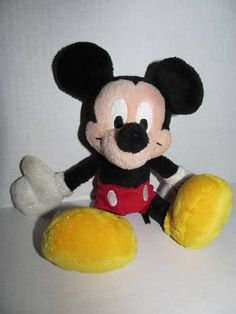 """Disney Store Plush Mickey Mouse Stuffed Animal Toy 9"""" Tall Collectible Lovey 