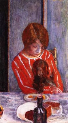Pierre Bonnard oil on canvas reproduction 'Woman With Dog""
