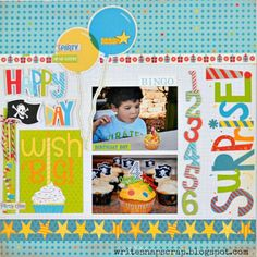 My Creative Scrapbook monthly scrapbooking kit club with add-ons, exclusive sketch designs, message board, and gallery. Birthday Scrapbook Layouts, Scrapbook Sketches, Scrapbook Page Layouts, Baby Scrapbook, Scrapbook Cards, Scrapbook Photos, Scrapbooking Ideas, Party Layout, Day Wishes