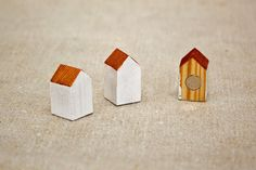 little wood house magnets
