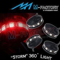 For Honda Grom Metropolitan Goldwing Storm Style Red LED Tail Brake Light 4pcs
