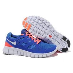 separation shoes b2c24 d3a1c Nike Free Run 2 Bright Blue White Royal Blue Bright Mango Womens Shoes