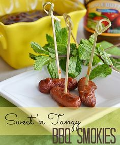 Sweet 'n Tangy BBQ Smokies on MyRecipeMagic.com #smokies #bbq #tailgate