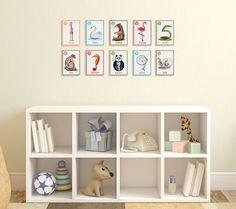 Number Flash Cards Nursery Art Number Wall Cards by TinyToesDesign, $24.00