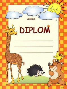 Diplomy K Vytisknutí Zdarma Dětské Diplom Ke Stažení In Kindergarten, Pre School, Classroom Management, Certificate, Children, Kids, Diy And Crafts, Projects To Try, Rainbow