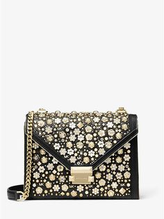 3c19cc922392 Michael Kors Whitney Large Embellished Leather Convertible Shoulder Bag  Dress Up Diary