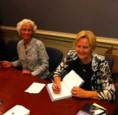 Anna Simon and Ann Hampton at a book signing for Kimberly's Flight.