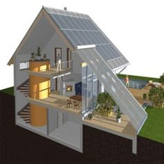 Using Solar Energy To Power Your Home – Go Green 4 Health Green Architecture, Sustainable Architecture, Architecture Design, Passive House Design, Earthship Home, Passive Solar Homes, Casas Containers, Solar Panels For Home, Solar House