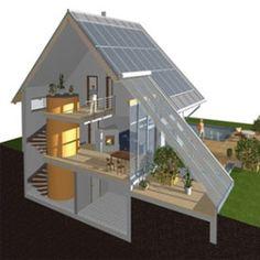 Šilumos kaupiklis - 10,000L vandens statinė namuose. Vidutiniškai 22 laipsniai šilumos ištisus metus iš saulės kolektorių.