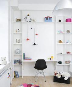 zona de estudio niños 7 10 Ideas para organizar y decorar la zona de estudio de los niños
