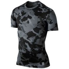 Nike Pro Combat Core Comp S/S Camo Top - Men's at Eastbay