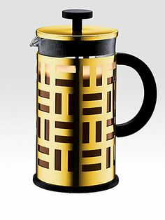 coffe maker, french press, cup french, eileen french, kitchen dining, press coffeemak, home kitchens, bodum eileen, gold chrome