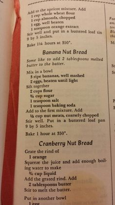 My favorite Banana Bread. From the classic Fannie Farmer's Cookbook.