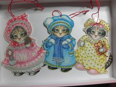 1980'S KiTTY CuCUMBER Cats Name Tags or Place by BEEHIVEBUTTONS, $5.00