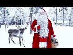 Greetings and message of Santa Claus just before Christmas [FatherChristmas in Lapland in Finland-SantaClausVillage[SantaTelevision.c]