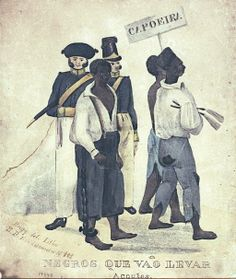 Punishment for Capoeira - (1832) Negroes Going to be Whipped. Frederico Guilherme Briggs