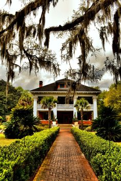Herlong Mansion. Micanopy, Florida.  Built Circa 1845, Remodeled in 1910.