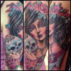 Ben gun girl tattoo