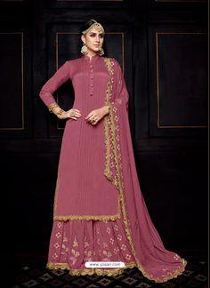 Shop pink uppada silk designer pakistani palazzo suit , freeshipping all over the world , Item code Pakistani Dress Design, Pakistani Dresses, Indian Dresses, Indian Outfits, Indian Attire, Pakistani Couture, Pakistani Dramas, Indian Couture, Stylish Dress Designs