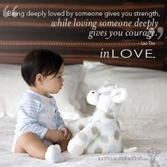 Being deeply loved by someone gives you strength, while loving someone deeply gives you courage. -- Lao Tzu pinned with Pinvolve - pinvolve.co