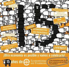 Fiesta 15 aniversario Economistas sin Fronteras! #15AñosEsF