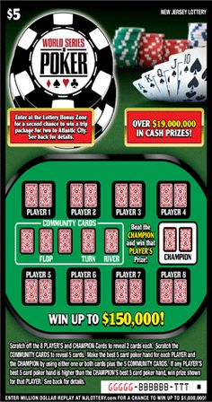 World Series Of Poker® Lotto Games, World Series Of Poker, Off Game, Lottery Tickets, Cash Prize, Scratch Off, Math Classroom, New Jersey, How To Plan