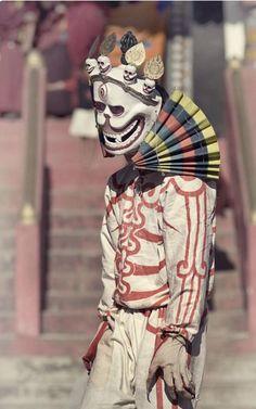 Tibetan monk performs the Skeleton Dance during the annual festival at Zong Dog Palri Phodrang Monastery in Sikkim, Northeast India ©Douglas MacRae Tibetan Art, Tibetan Buddhism, Charles Freger, Skeleton Dance, Tribal Costume, Northeast India, Cultural, People Of The World, World Cultures