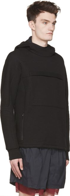 Tim Coppens Black Lux Wrinkled Zip Hoodie