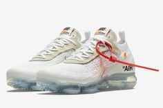 "The Virgil Abloh x Nike Air VaporMax ""White"" Drops This Weekend Running Shoes Nike, Fashion Models, Fashion Tips"