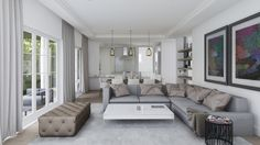 Decor, Furniture, Urban Spaces, Sectional Couch, Space, Home Decor