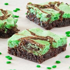 St Pattys Day Brownies
